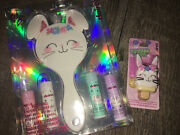 Claire's Bunny Princess Vanity Mirror Lip Gloss Keychain Backpack Clip Set Lot