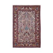 4and0394x6and0399 One From A Pair Antique Farsian Kishoon Cond Hand Knotted Rug R48698