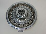 Vintage Ford Mustang Wire 14 Hubcap With Black Center Octagon 2