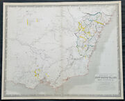 1856 A K Johnston Large Antique Goldfields Map Of Victoria And New South Wales