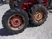 Allis Chalmers Ca Tractor Ac Spin Out Adjust Rims Rim 11.2 X 24 Goodyear Tires