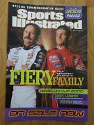 2001 Dale Earnhardt And Jr Winston Cup Promo Sports Illustrated Display Poster