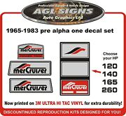 1965 - 1983 Pre Alpha One 4 Piece Replacement Decal Kit Mercury Mercruiser