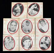 8 1964 Photo Linen Emblems Mickey Mantle Yogi Berra New York Yankees