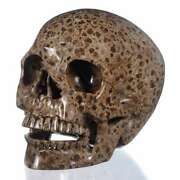 6.93natural Wavellite Human Skull/head Carving Collectibles 27z62