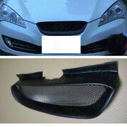 Auto Front Upper Hood Black Mesh Grille Cover For Hyundai Genesis Coupe 2008-12