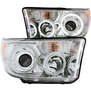 111173 Anzo Headlight Lamp Driver And Passenger Side New Lh Rh For Toyota Tundra