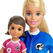 Barbie Soccer Coach Playset Blonde With Student Doll Glm47