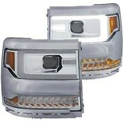 111376 Anzo Headlight Lamp Driver And Passenger Side New For Chevy Lh Rh Chevrolet