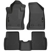 95681 Husky Liners Floor Mats Front New Black For Jeep Compass 2017-2018