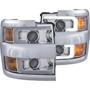 111360 Anzo Headlight Lamp Driver And Passenger Side New For Chevy Lh Rh Chevrolet