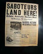 Great Attack On Pearl Harbor World War Ii Wwii Japanese Navy 1941 Wwii Newspaper