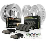 K15154dk Powerstop 4-wheel Set Brake Disc And Drum Kits Front And Rear New