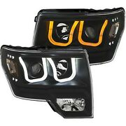 111383 Anzo Headlight Lamp Driver And Passenger Side New For F150 Truck Lh Rh Ford