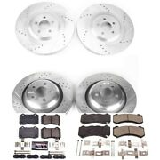 K8170 Powerstop 4-wheel Set Brake Disc And Pad Kits Front And Rear New For Charger