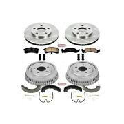 Koe15123dk Powerstop Brake Disc And Drum Kits 4-wheel Set New For Olds Le Sabre