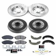K15118dk Powerstop 4-wheel Set Brake Disc And Drum Kits Front And Rear New