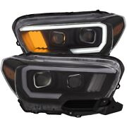 111377 Anzo Headlight Lamp Driver And Passenger Side New Lh Rh For Toyota Tacoma