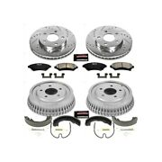 K15120dk Powerstop Brake Disc And Drum Kits 4-wheel Set Front And Rear New