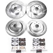 K5823-26 Powerstop Brake Disc And Pad Kits 4-wheel Set Front And Rear New For M37