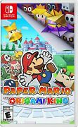Paper Mario The Origami King - Nintendo Switch New Factory Sealed