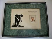 President Richard M. Nixon Portrait Framed And Matted Picture On Us Postage Stamp