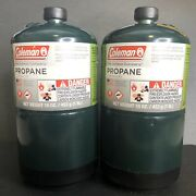 Coleman Propane Cylinder 2 Pack 16 Oz 1lb Camping Gas Grill Bbq Heater Made Usa