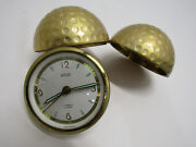 Old Rare Welby Golf Ball 7 Jewels Alarm Clock Us Zone Germany Works