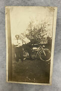 Rare Early Rppc Original Thor Iv Motorcycle 1910s Postcard In Great Shape