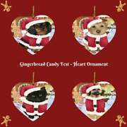 Gingerbread Candyfest Dog Cat Pet Photo Gifts Heart Christmas Tree Ornament