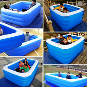 Inflatable Swimming Pool Garden Outdoor Backyard Inflated Tubs For Family 6 Size
