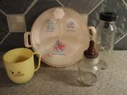 Vintage Evenflo Glass Baby Bottle Tommee Tippee Cup Warming Food Dish