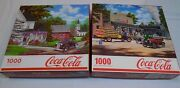 Coca Cola Country All Aboard Train Jigsaw Puzzle Not Counted As Is 1000 Pcs Coke
