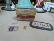 2007 Longaberger Collectors Club Homestead Gathering Basket Combo W/lid, Tie-on