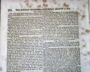 Captain James Lawrence Donand039t Give Up The Ship Death 1813 War Of 1812 Newspaper