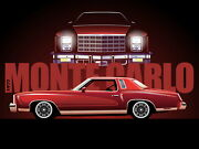 1977 Chevy Monte Carlo Art   24x36 Inch Poster   Great Looking