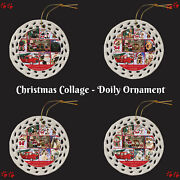 Love Is Being Owned Christmas Dog Cat Pet Photo Doily Christmas Tree Ornament