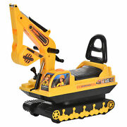 Ride On Excavator Toy Tractors Digger Movable Walker Construction Truck 3 Years