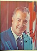 Spiro Agnew 8x10 Inscribed Color Photo Deceased