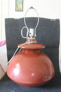 Vintage Haeger Mid Century Large Ceramic Ball Shaped Lamp 23 Tall To Top