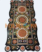 25and039and039x50and039and039 Marble Dining Top Table Semi Precious Inlay Art Living Room Decor B492