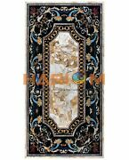 32x60 Marble Multi Marquetry Inlay Top Center Dining Table Garden Decors B497