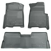 98332 Husky Liners Floor Mats Front New Gray For F150 Truck Ford F-150 2009-2014