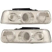 111190 Anzo Headlight Lamp Driver And Passenger Side New For Chevy Suburban Lh Rh