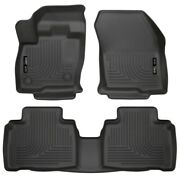 98781 Husky Liners Floor Mats Front New Black For Ford Edge 2015-2018