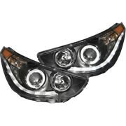 121476 Anzo Headlight Lamp Driver And Passenger Side New Lh Rh For Hyundai Accent