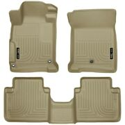98483 Husky Liners Floor Mats Front New Tan Sedan For Honda Accord 2013-2017