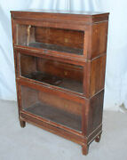 Antique Mission Oak Bookcase Andndash Macey Andndash Three High Sectional Stack Up Bookcase