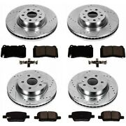 K6710 Powerstop 4-wheel Set Brake Disc And Pad Kits Front And Rear New For R Class