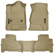 99213 Husky Liners Floor Mats Front New Tan For Chevy Chevrolet Suburban Gmc